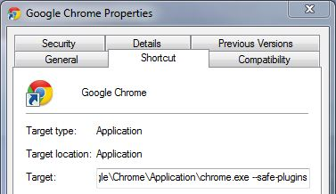 Google Chrome Security Setting