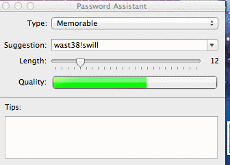 Macintosh Security Software Password Analyzer