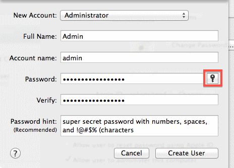 Macintosh Security Software Password